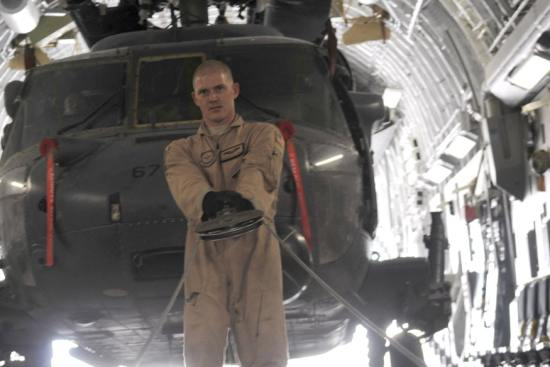 an Aircraft Loadmaster at work