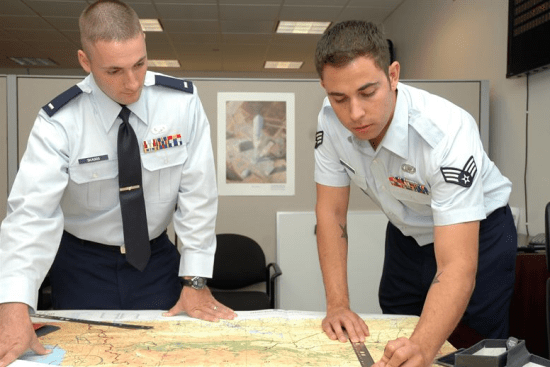 an Signals Intelligence Analyst at work