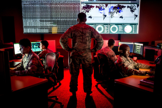 an Cyber Warfare Operations at work
