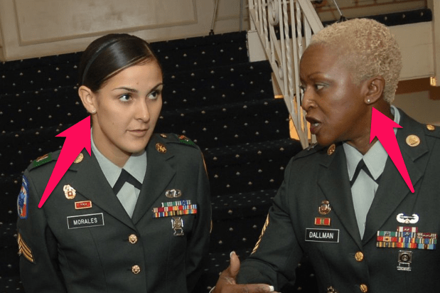 army earring policy for females
