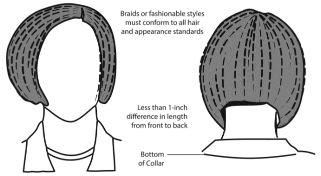 female braids in the army - standards and regulations