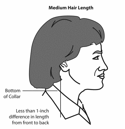 medium length hair syle females - us army standards and regulations