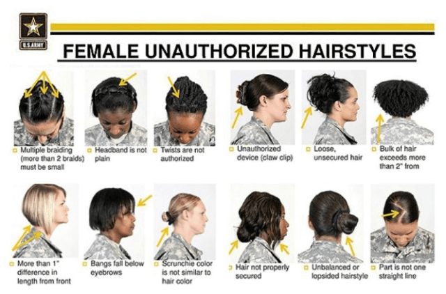 unauthorized female hairstyles - us army
