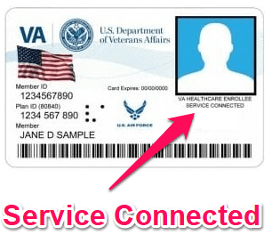 va id card service connected - sample