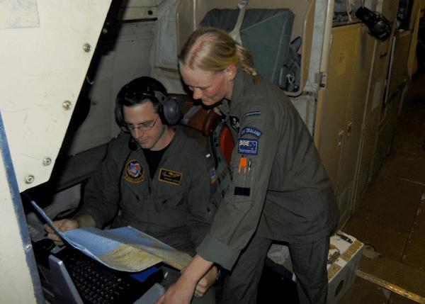 navy aircrewman at work