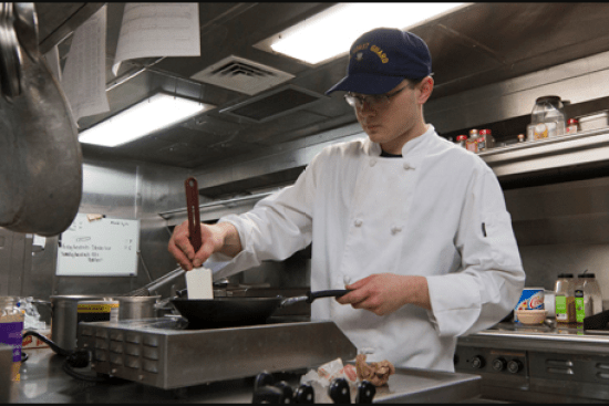 an Food Service Specialist at work
