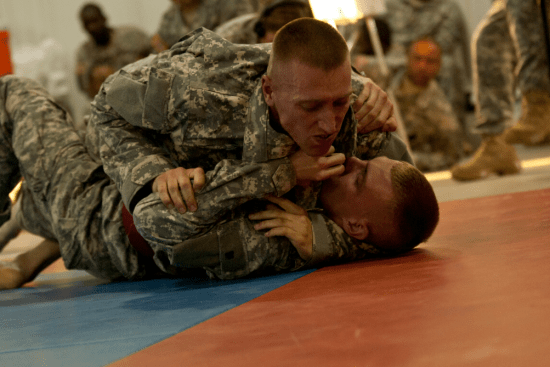 an Combat Medic Specialist at work
