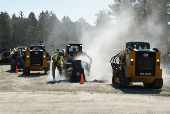 an Concrete Asphalt Equipment Operator at work