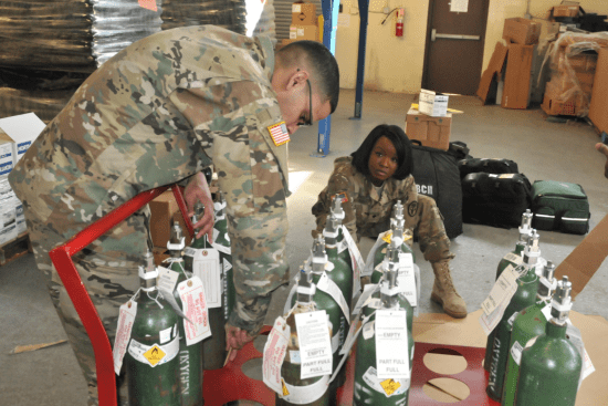 an Medical Logistics Specialist at work