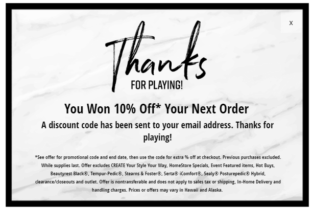 ashley furniture 10 percent off coupon