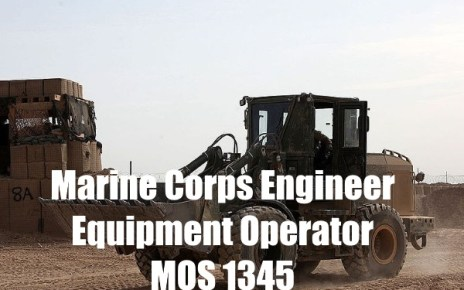 marine corps engineer equipment operator - mos 1345