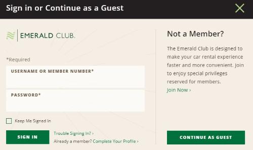 national car rental emerald club