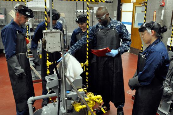 an Gas Turbine Systems Technician - Mechanical at work