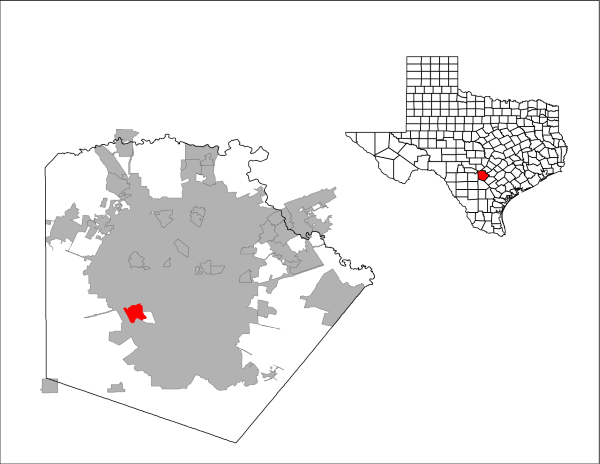 Lackland AFB is located in south central texas