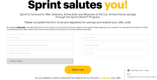 Sprint Military Discount: Up To 50% Off Select Phone Lines