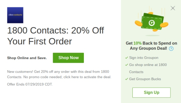 1800 Contacts Military Discount: No Discount, But 6 Other