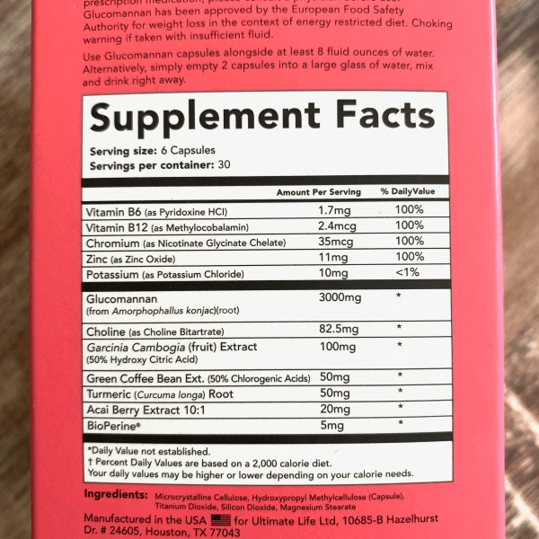 leanbean ingredients label