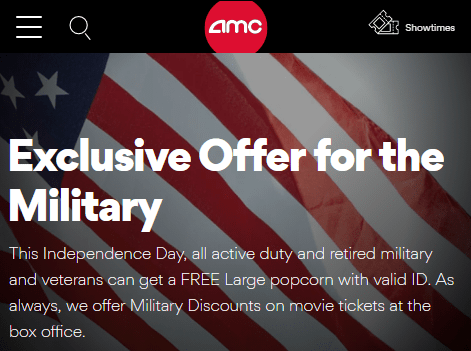 amc theater military discount