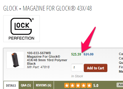 brownells glock magazine discount