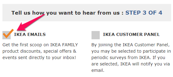 ikea email signup