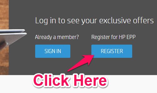 register for an hp account