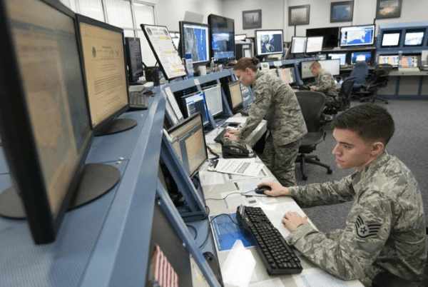 air force range weather forecaster at work