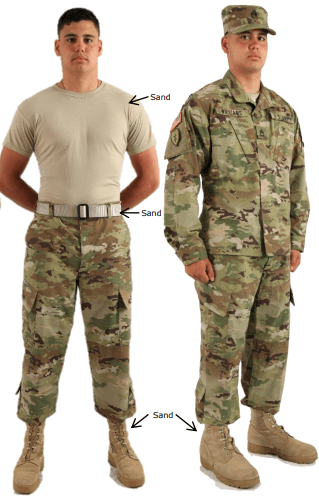 army undershirt regulations - sand