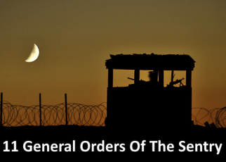 11 general orders of sentry