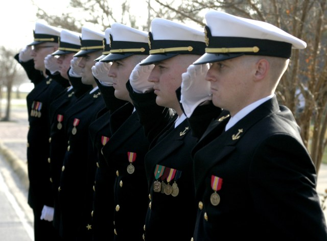 End of phase 2 at Navy Officer Candidate School