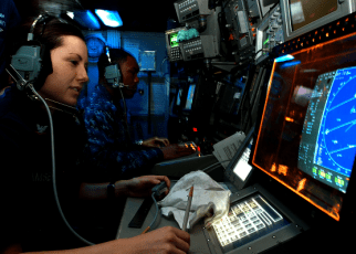 Navy CTT Monitors a Radar