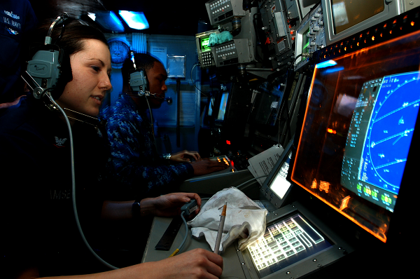 Navy CTT Monitors a Radar