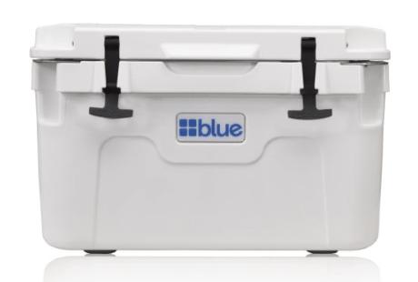 blue 30 quart roto molded cooler