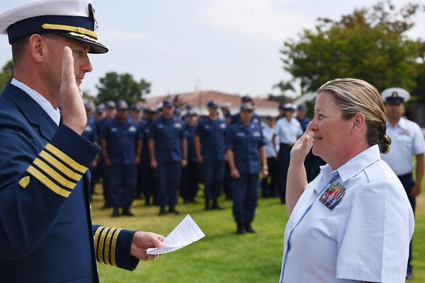 Coast Guard Promotion Ceremony for Petty Officer
