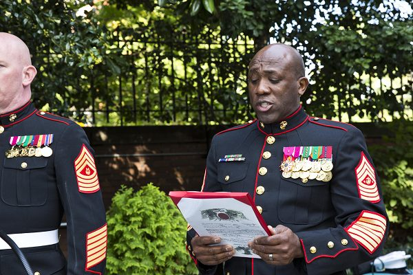 Marine promoted from the rank of lieutenant general to general