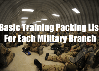 basic training packing list for each military branch