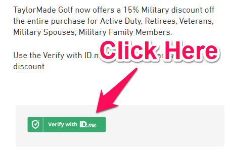 golf clubs military discount