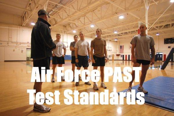 air force past test standards