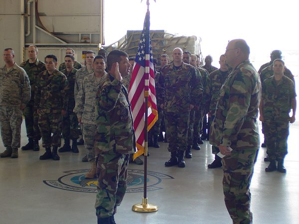 performing a reenlistment ceremony active duty