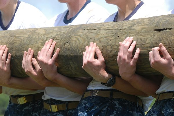 Build strength is a part of preparing for Navy boot camp
