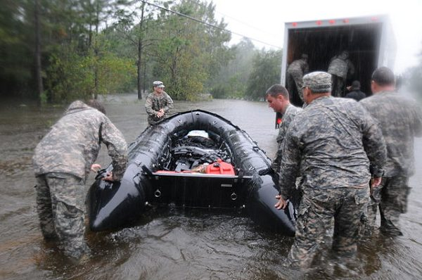 Mississippi National Guard Special Forces Rescue Civilians after a Hurricane