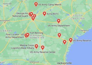 army bases in georgia