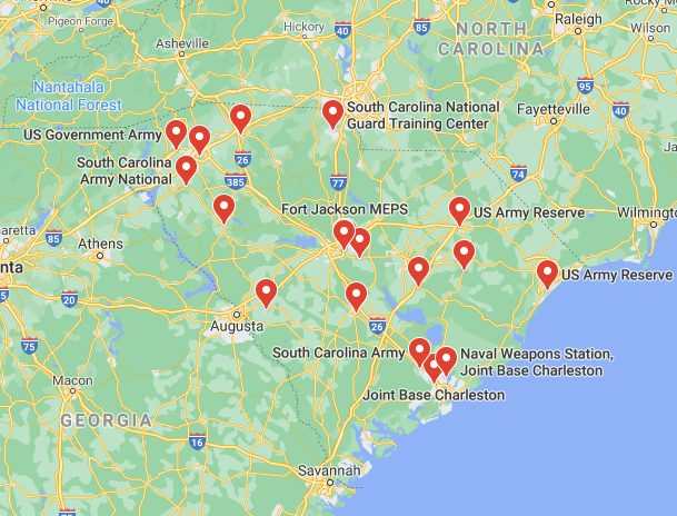 army bases in south carolina
