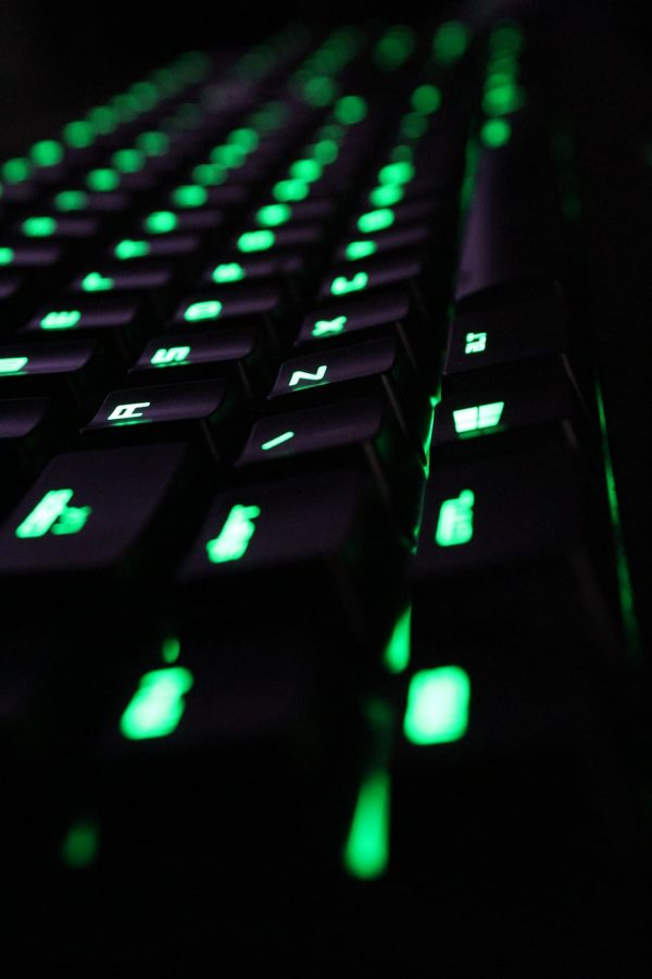 keyboard-computer-razer-green-dark