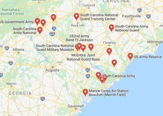 military bases in south carolina