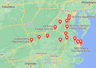 military bases in virginia