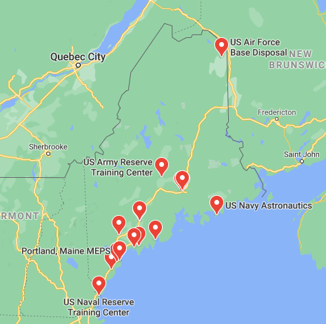 military bases in maine