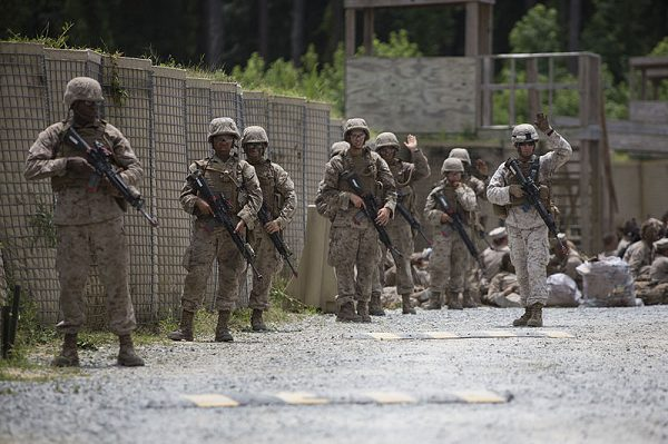 MCT Marines perform field exercise