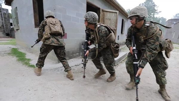 MOUT training at the Infantry Training Battalion