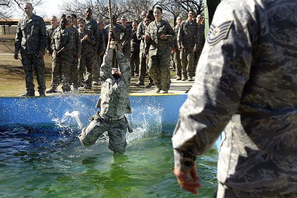 air force basic training obstacle course