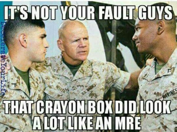 marines crayons